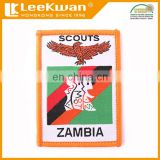 Eagle design embroidery woven label, boy scouts custom embroidery patches