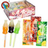 Wholesale Sweets Cola Shape Lollipop With Glow Stick