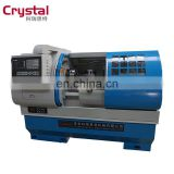 My test CK6140A hydraulic 3 jaw chuck cnc lathes machine for metal processing