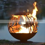 3mm 6mm Carbon Steel Garden Ornament Decorative Spheres for Bowls