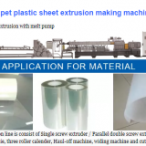 bicolor PC, PS Plastic Sheet Extrusion Machine bicolor PE sheet making line