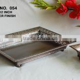 Antique Copper Finish Square Iron Serving Serving Tray For Dry Fruits And Cookies, Party and Wedding Gifts Tray