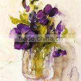 China import items decor for home flower designs fabric painting modern abstract paintings canvas flower oil painting for decor