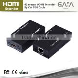 Unlimited HDMI Extender 60M over TCP/IP and Ethernet over CAT5e or CAT6 cable hdmi extender