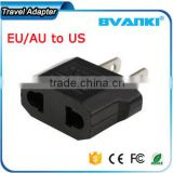 Unique custom printing world Black EU/AU to US AC Power Plug Travel Converter Adapter universal travel adapter china supplier