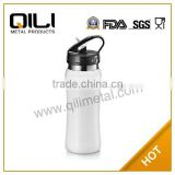 High Quality 18/8 Stainless Steel 750ml double-wall stainless steel sports bottle with straw