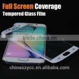 2015 New Full Screen Coverage Tempered Glass Protector for Samsung Galaxy S6 Edge S7 edge To Edge Cuved Glass Protecive Film