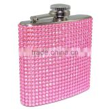 Hot sale Fashion Lady bling hip flasks with custom pattern