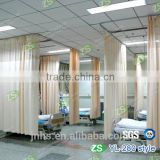 Customerized Polyester Yarn Dyed Antibacterial Hospital Ward Bed Screen Curtain with Mesh