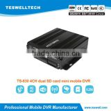 HOT NEW PRODUCT MINI 4ch 960H 2 sd card mdvr gps 3g wifi Mobile DVR / MDVR for school bus TAXI cctv system