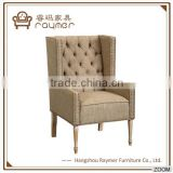 Anqique vintage tufted copper nail Line Simple Upholstery Arms Chair