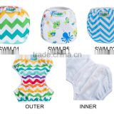 One Size Reusable Boy Pattern Baby Swim Diaper