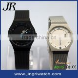 fashionable quartz analog watch high qulity ultra-thin watch stainless steel case back watch