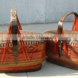 Chinese Antique Furniture-Antique Craft Wicker Basket                                                                         Quality Choice