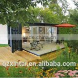 flat pack container house with solar panel 250W