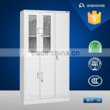luoyang steel wardrobe locker double door almirah glass door almirah