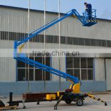 10m trailer mounted articulated boom lift hydraulic towable cherry picker for sale