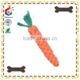 Carrot knot rope toys dog clean tooth grinding cotton rope pet toys                                                                         Quality Choice