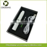 New sub ohm e cigarette starter kit v2.7 ceramic plating heating coil donut atomizer dry wax vaporizer pen