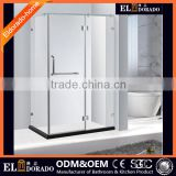 Frosted Factory Sales Hotel Furniture Hinge Frameless SGCC Certificate Rctangular Extend Shower Screen