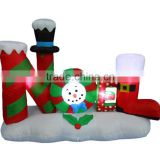 4 Foot Tall Lighted Christmas Inflatable Noel Yard Decoration