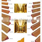 skirting board/wood decorative ceiling moulding/wooden ceiling design for india