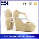 Girls New Peep Toe 14CM High Heels Wedge Platform Sandals