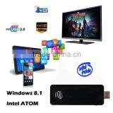 CSW10 Intel Mini PC official version Windows8.1 Android 4.4 BT4.0 WIFI Quad Core TV Stick CPU 2GB+32GB Smart TV BOX