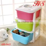 3tiers plastic drawer box baby kids clothing toys storage drawers