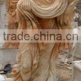 Life Size Angel Statue Marble Stone Hand Sculpture Carving For Home, Church