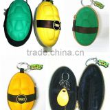 waterproof and shockproof PU purse coin purse key chain bag
