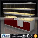 Luxury quality wood glass used food donut bakery display case for sale