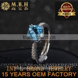 jewellery factory 18K gold plating 925 sterling silver jewelry natural precious gemstone topaz ring earrings pendant setting