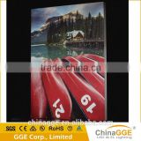 Low attenuation slim frameless fabric led backlight with professional silk print techology