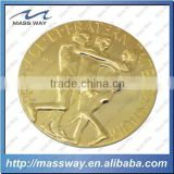 promotional zinc alloy gold award sport 3d metal commemorate coin