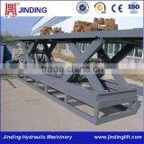 Customized hydraulic lifting table equipment as the client request for raising cargoes