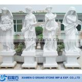 Carved Garden White Four Seasons Marble Statues