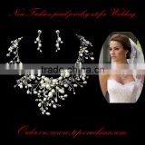 New fashion Bridal necklace and earrings/Vintage inspired rhinestone bridal necklace statement Wedding jewelry set