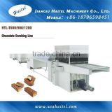 HTL-T400/600/900/1200 Best Price Chocolate Coating Machinery Cereal Bar Enrobing Line Chocolate Enrobed Candy Making Machine