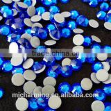 Sapphire strass hotfix cristal beads flat back hotfix rhinestones for iron on transfers