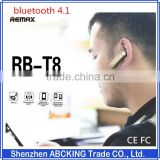 Remax bluetooth 4.1 bluetooth headphone for iPhone Handsfree Clip USB Car Charger invisible bluetooth earphone