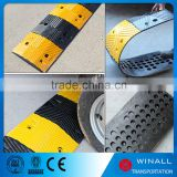 Plastic Speed Bump Yellow black, LDPE Recycled Material