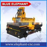 ELE 1325 pneumatic system 3 spindle , cnc atc 1325 , 3d wood carving router machine 3 axis with balance cylinder