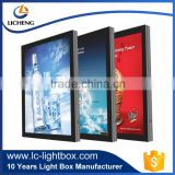 Long lifespan waterproof aluminum advertising display wall mounted light box with LED menu board outdoor picture frame