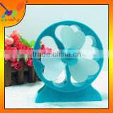 Hot Fashion Lucky Flower shape USB Mini Fan at factory price Rechargeable Table Fan student Fan