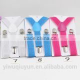 Children/ kids/baby strap pants/ trousers Suspenders adjustable and Brace Elastic clip belt