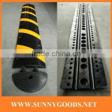 length1830mm rubber speed hump cable ramp sleeping policeman