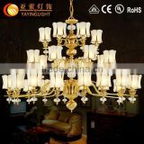 brass classic pendant lamp,high quality chandelier candle lighting,large hotel chandeliers for sale