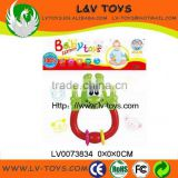 New Funny design baby toys plastic ABS material cute baby ring rattle made in China with EN71 LV0073834