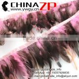 ZPDECOR Plumage Manufacturer Wholesale Cheap Cock Fringe Directly Dyed Light Pink Rooster Saddle Feathers Trims